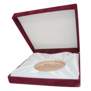 Éremtartó doboz plüss d=100 mm